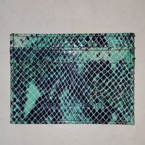 NWOT Aimee Kestenberg Emerald Snake Card Holder